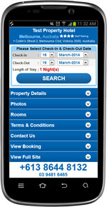 Free hotel Booking Engine Mobile Version