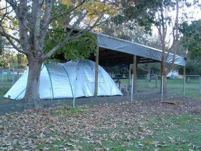 Fenced Covered Tent Site ( Powered )